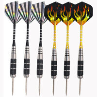 6 Pcs of Steel Tip Darts Tungsten Barrel Aluminium Shafts Professional Dart Set