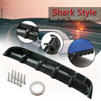 "25x5"" Glossy Black Car ABS Rear Shark  Style Curved Bumper Lip Diffuser 6"