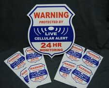 8 cellular 1 Yard sign LIVE Alarm SECURITY SURVEILLANCE DECAL STICKER WINDOW
