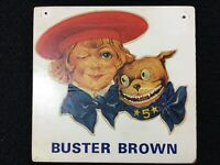 VINTAGE STORE ADVERTISING PLAQUE SIGN 1950'S BUSTER BROWN & TIGE 1940'S-50'S