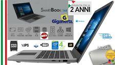 SMARTBOOK LAPTOP 14'' FULL HD 160 GB SSD + RAM 4GB W 10 GARANZIA ITALIA NUOVO