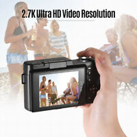 "2.7K WiFi Digital Camera Full HD 1080P Vlogging Video Camcorder 24MP 3""180° Roll"