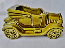 "McCoy USA Car Planter-Green Automobile ""EXCUSE MY DUST"""