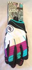 Volcom Men's Hypnotized Pipe Snowboard Glove White Purple Teal Large NEW
