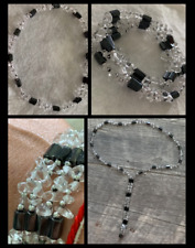 Magnetic Hematite Himalayan Crystal Quartz Silver Wellness Bracelet / Necklace