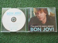 "BON JOVI ""(You Want To) Make A Memory"" ORIGINAL 2007 CD Single + Video (ENHACED)"