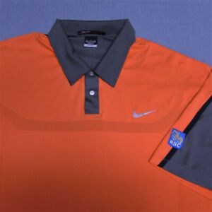 NIKE TIGER WOODS POLY GOLF SHIRT--2XL--RBC LOGO--SUPER LOOK!!!--SPOTLESS