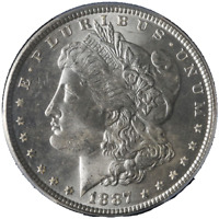 1887-P Morgan Silver Dollar PCGS MS66 Blazing White Gem Nice Strike STOCK