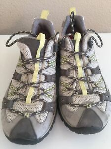 MERRELL Women's Continuum OrthoLite Beige & Yellow Hiking Shoes Size 8-1/2