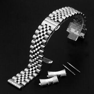 12-22mm Solid Stainless Steel Watch Strap Band Jubilee Watch Band Wrist Bracelet