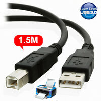 1.5M USB 3.0 Type A Male to B Male Printer Cable Cord for Canon Sony Brother HP
