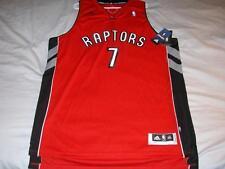 Andrea Bargnani 7 Toronto Raptors NBA adidas Red Swingman Jersey Men's 2XL NWT