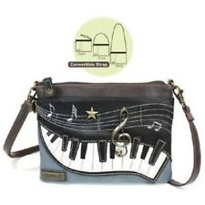 New Chala Mini Crossbody Bag Pleather Small Purse Convertible PIANO Blue Gift
