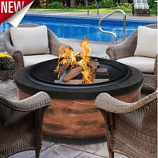 Outdoor Fire Pit Backyard Patio Fireplace Wood Burning Deck Heater Firepit Bowl