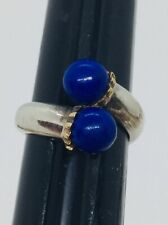 Tiffany & Co. Authentic Sterling silver & 18k Yellow Gold Blue Lapis Ring Size 6