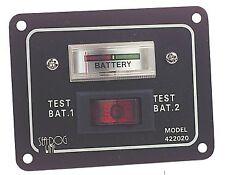 Panel interruptor de prueba de batería doble de Marina con Barco Yate de calibre 12 V-J11