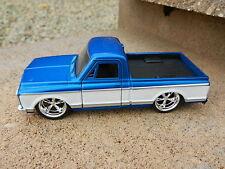 1:32 JADA TOYS *BLUE & WHITE* 1972 Chevy C-10 Cheyenne Pickup Truck DIECAST NEW
