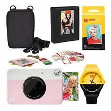 Kodak PRINTOMATIC Instant Print Camera (Pink) Scrapbook Photo Album Kit