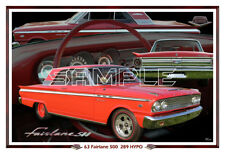 1963 Ford Fairlane 500 289 HYPO Poster Print