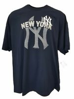MLB New York Yankees Navy Blue Team Logo T-Shirt, Men's 3XL & 4XL, nwt