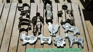 Lot of 12 Vintage Primitive Aluminum and Metal Soldered Cookie Cutters Germany