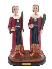 "12"" Saint Cosme & Damian Statue Santo Religious Figure Image Santo St Twins San"