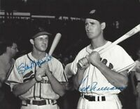 Ted Williams / Stan Musial Autographed Signed 8x10 Photo ( HOF Red Sox )REPRINT