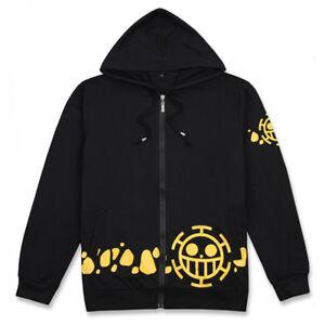 Men Women Anime One Piece Trafalgar Law Hoodie Hooded Sweatshirt Jacket Coat New