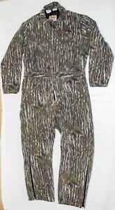 Vtg 1980s Wall's Blizzard-Pruf Realtree Tree Bark Camo Lined Suit Cover Alls LGT