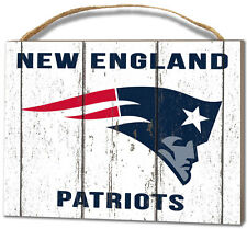 New England Patriots Small Plaque - Weathered Logo [NEW] NFL Sign Wall Wood
