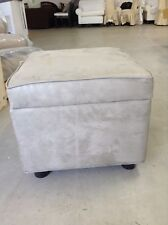 Frontgate Grandinroad Eco Suede Storage Sofa Chair Ottoman Foot Stool SAGE
