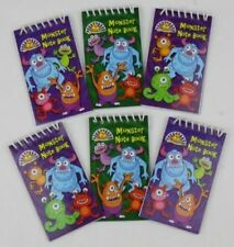 Pack of 12 Monster Mini Spiral Notebooks - Childrens Party Loot Bag Filler