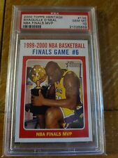 2000 Topps Heritage Basketball #136 Shaquille O'Neal Finals MVP PSA 10 Gem Mint