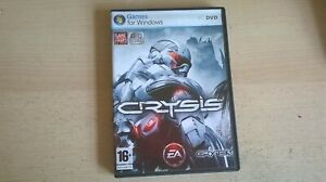 CRYSIS 1 - FPS SHOOTER PC GAME - FAST POST - ORIGINAL & COMPLETE WITH MANUAL b