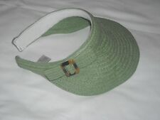 Accessories Lovely Green Woven Visor Attractive and Well Styled Size M