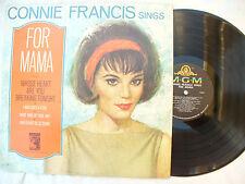 CONNIE FRANCIS LP FOR MAMA usa mgm E/SE 4294 (stereo?)... 33 rpm / pop