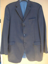 BURBERRY MEN'S 42L PLAID NAVY BLUE SUIT SPORT COAT JACKET BLAZER 10% WOOL