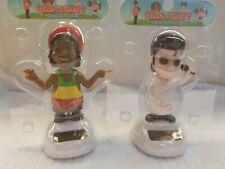 Solar Powered Dancing Toys Solar Elvis With Solar Rastafari MAN Bobblehead Toys