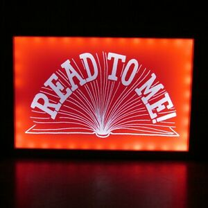 """Pottery Barn Kids READ TO ME Lighted Sign 18""""x12"""" Wall Mount Battery Operated"""