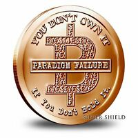 2014 Silver Shield Bitcon 1 oz Copper Round | Direct From Mint Tube