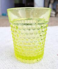 Vintage Scarce Bubble Design Neon Green Glass Tumbler