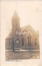 Ohio Postcard Real Photo RPPC c1910 MEDINA Disciple Church Building
