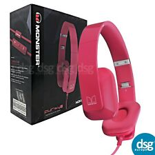 Genuine Monster WH-930 Purity HD Wired Stereo Headset - PINK Noise Cancellation