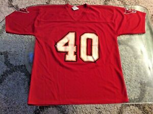 Tampa Bay Buccaneers Mike Alstott Red Jersey Adult Large