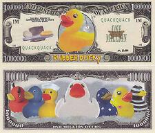 Rubber Ducky Quack Quack One Million Dollar Bill # 319