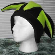 NEW fleece jester snowboard hat- black and green