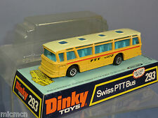 "DINKY TOYS MODEL No.293          SWISS ""PTT"" POSTAL BUS       VN MIB"