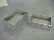 5 New Grey Removal Storage Crate Container 28L