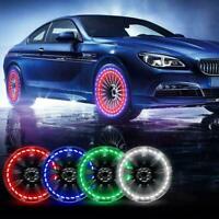 Solar Powered Car Motorcycle Wheel Tire Tyre Valve Cap New Flash Light Lamp O0E2