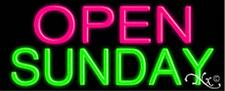 "Brand New ""Open Sunday"" 32x13 Real Neon Sign w/Custom Options 10271"